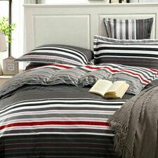 Fashion 100% Cotton King Bed Size Quilt Doona Duvet Cover Pillowcase Set - Y
