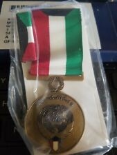 Kuwait Liberation Medal + Ribbon in Box Dealer Blow Out -Combine Shipping Deals
