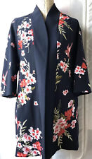 Ted Baker 'Aurian' Bird And Blossom Embroidered Kimono Navy Size S New