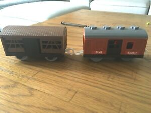 Thomas and Friends TrackMaster  mail car  and cattle carriage.