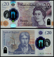 2020 England 20 Pounds Polymer Released 20/02/2020 UNC Grossbritanien