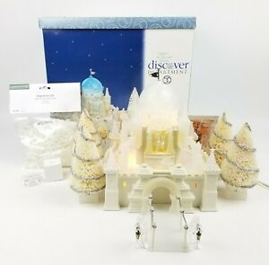 Dept 56  Snow Village 20001 Crystal Ice Palace Gift Set Lighted & Animated 58922