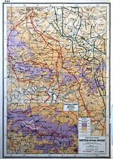 Vintage Antique Original 1920 Map Print Of The Western Front Battle Of The Ancre