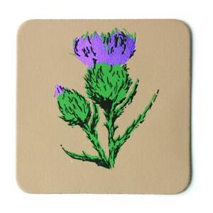 Thistle Real Leather Coaster - Nude