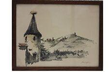 ROBERT KUVEN (1901-1983) - châteaux en Alsace Original-Lithographie (14)