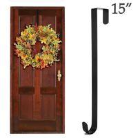 Metal Over Door Christmas Wreath Door Hanger Secure Xmas Party Decoration Hook