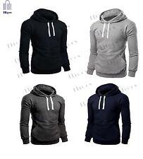 Plain Mens Hoodie Hooded Sweat Shirt Casual Men work wear Top lot Sizes S - XXL