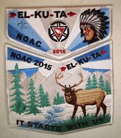 EL KU TA 520 GREAT SALT LAKE 2-PATCH 100TH OA 2015 NOAC FLAP WINTER DELEGATE