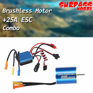 SURPASS 7200KV Brushless Motor With 25A Brushless ESC Combo for 1/16 1/18 RC Car