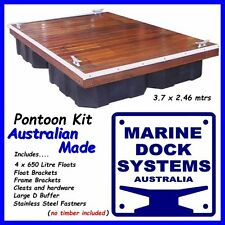 PONTOON KIT BUILD YOUR OWN FLOATING JETTY BOAT DOCK FLOATS FLOTATION FENDER NEW!