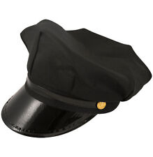 New Black Chauffeur Hat Taxi Driver Limo Adults Hen Night Stag Do Fancy Dress