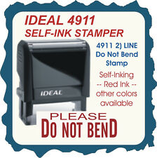 Do Not Bend, Trodat / Ideal Custom Shipping/Office/ Business Stamp 4911 Red Ink