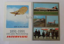 DDR Interflug - Air line : 2x Postkarte ( Fotos v. Flugzeug, Uniform ... ) GDR