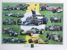 Lotus 50.Limited edition print, Formula One cars, Chapman, Clark, Hill, Andretti