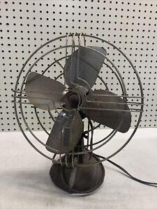 COOL Vintage Knapp Monarch Metal Blade Fan - NEEDS WORK OLD DECOR ANTIQUE ART