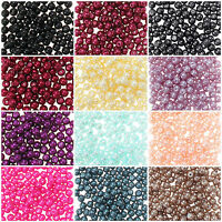 20-100Pcs Round Glass Pearl Loose Spacer Bead Charm Jewelry Making 4/6/8/10/12mm