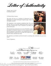 MUHAMMAD ALI SIGNED  TWICE (2 SIGS)  vs FRAZIER    PSA/DNA DOUBLE SIGNED Q06917
