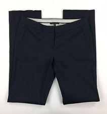 Elie Tahari Bergdorf Goodman Womens Sz 2 Linen Navy Blue Pants Trousers Career