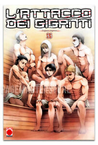 manga L'ATTACCO DEI GIGANTI Nr. 33 VARIANT SAUNA Panini Planet