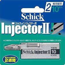 Schick Razor Blade Refill Injector II 10P New Japan Japan new .