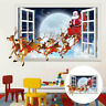 Merry Christmas Wall Window Oversized Santa Stickers Decals Xmas Home Shop Decor