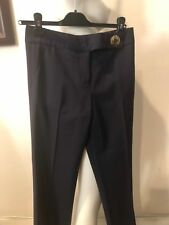 PREOWNED TORY BURCH NAVY BLUE WOOL DRESS PANTS, SIZE 2!!! CLARAZO