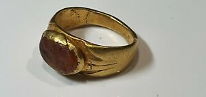 0991. Roman Gold Ring with Dolphin 1st,3rd century AD