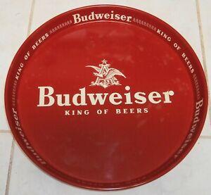 """VINTAGE BAR 13"""" BUDWEISER KING OF BEERS METAL SERVING TRAY"""