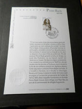 FRANCE 2006 NOTICE FDC timbre 3901, CELEBRITE' P. BAYLE, 1° JOUR, CELEBRITY