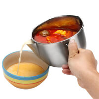 Durable Stainless Steel Gravy Oil Grease Soup Separator Strainer Bowl Cookware