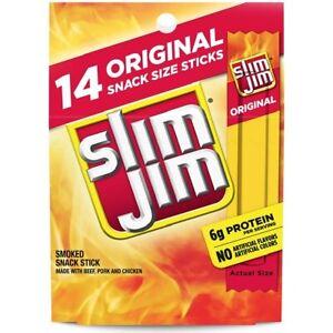 Slim Jim Original Smoked Snack Stick, 0.28 oz, 14 count GREAT VALUE!!