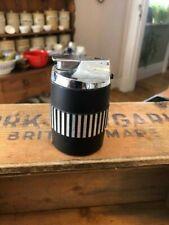 Vintage Mid-Century Black & Silver Ronson Table Lighter – Retro!