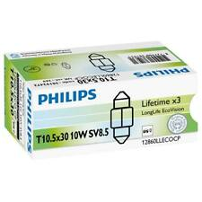 Long Life Ecovision Festoon Bulb 269 12V 10W 30mm SV8.5-8 38192428 By Philips