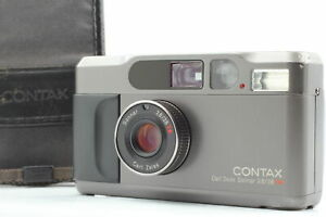 [Exc+5 w/Case] Contax T2 Titan Black 35mm Point & Shoot Film Camera From JAPAN