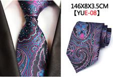 Men's Flower Suit Tie Polyester Silk Necktie Paisley Social Arrow Jacquard Woven