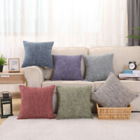 """17"""" X 17"""" Linen Cushion Covers Light Colour with Fleck Scatter Cushion Pillow"""