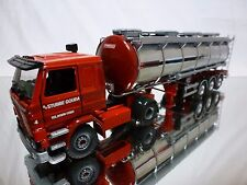 TEKNO SCANIA 92M TRUCK + WSI TANKER STUBBE GOUDA - RED 1:50 SPECIALLY BUILT