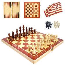 Schach Backgammon Dame 3in1 Spiel brett Set / 5 verschiedene Größen zur Auswahl