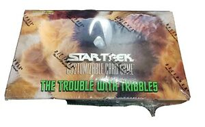 Star Trek ccg The Trouble with Tribbles sealed booster Box - Decipher