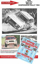 DECALS 1/43 REF 1046 VW VOLKSWAGEN GOLF GTI BELGA RALLYE HASPENGOW RALLY 1984