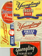 5 Different Beer Labels from Yuengling