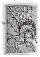 Zippo Patriotic Eagle Windproof Pocket Lighter, 20895