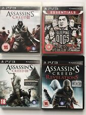 PS3 Game Bundle -Assassins Creed 2+3+Assassins Revelations+Sleeping Dogs - (993)