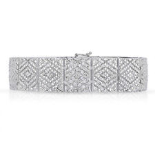 Natalia Drake- Vintage Wide Genuine Diamond Bracelet-Unisex-2CTW