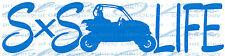 SXS LIFE SIDE BY SIDE RACING VINYL DECAL UTV FOUR WHEELER SXS CAR STICKER