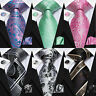 HT 200 Colors Paisley Red Blue Grey Green Gold Yellow Mens Tie Necktie Silk Set