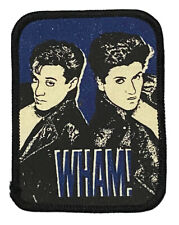 More details for wham! - old og vtg 1980`s printed patch sew on george michael andrew ridgeley