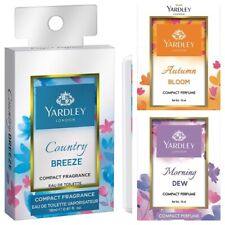 Yardley London Morning Dew, Autumn Bloom, Country Breeze Compact Perfume, 18ml