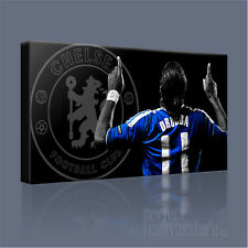 DIDIER DROGBA CHELSEA FC LEGEND AWESOME BLUE ICONIC CANVAS PRINT - Art Williams