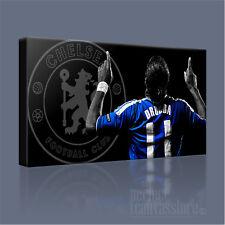 Didier Drogba Chelsea FC Leyenda impresionante impresión Azul Lona icónico-Arte Williams